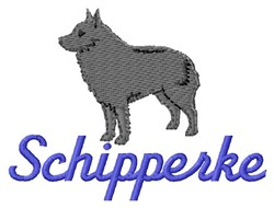 Schipperke embroidery design