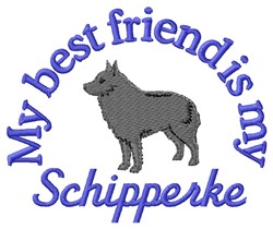 Schipperke Friend embroidery design