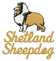 Shetland Sheepdog embroidery design