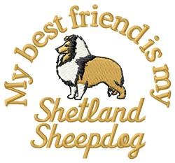 Shetland Sheepdog Friend embroidery design