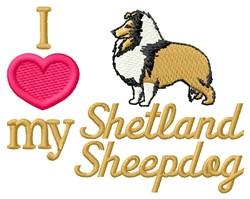 Love My Shetland Sheepdog embroidery design