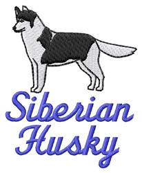Siberian Husky embroidery design