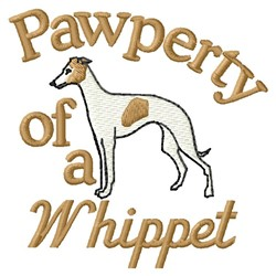 Whippet Pawperty embroidery design