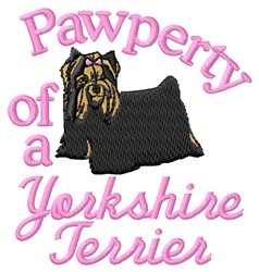 Yorkshire Pawperty embroidery design