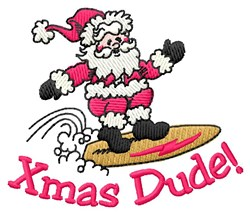 Christmas Santa Dude embroidery design