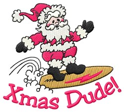 Xmas Dude embroidery design
