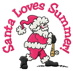 Santas Love For Summer embroidery design