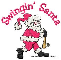 Santa Swings embroidery design