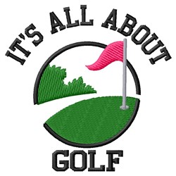 All About Golf embroidery design