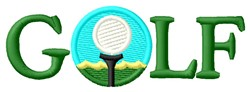 Golf Ball embroidery design