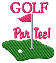 Golf Par Tee embroidery design