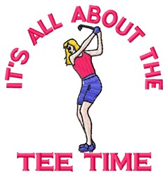 Tee Time embroidery design