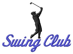 Swing Club embroidery design