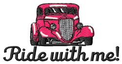 Ride With Me embroidery design