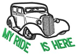 My Ride embroidery design