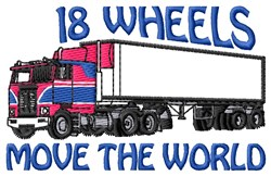 18 Wheels embroidery design