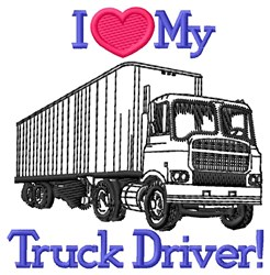 Love Truck Driver embroidery design