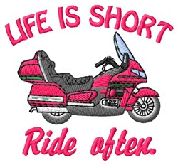 Ride Often embroidery design