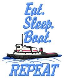 Boat Repeat embroidery design