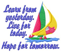 Live For Today embroidery design