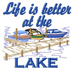 Better At Lake embroidery design