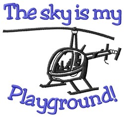 Sky Playground embroidery design