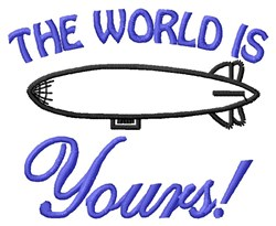 World Is Yours embroidery design