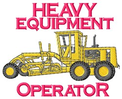 Heavy Equipment embroidery design