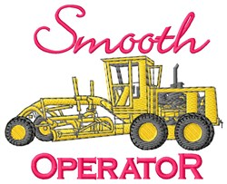 Smooth Operator embroidery design