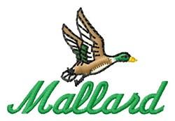 Mallard embroidery design