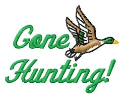 Gone Hunting embroidery design