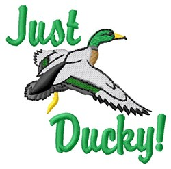 Just Ducky embroidery design