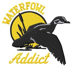 Waterfowl Addict embroidery design