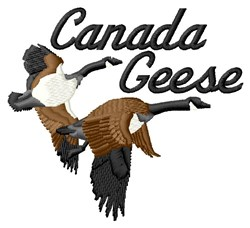 Canada Geese embroidery design
