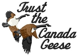 Trust Geese embroidery design