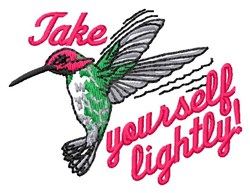 Take Yourself Lightly embroidery design