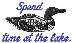Spend Time embroidery design