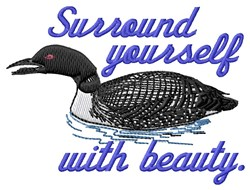 Surround Yourself embroidery design