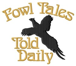 Fowl Tales embroidery design