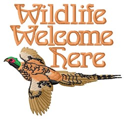 Wildlife Welcome embroidery design