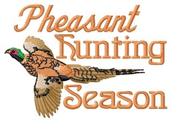 Pheasant Season embroidery design