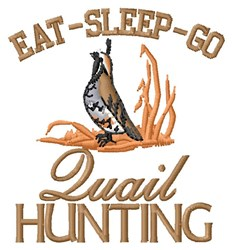 Quail Hunting embroidery design