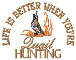 Better Quail Hunting embroidery design