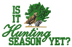 Hunting Season embroidery design