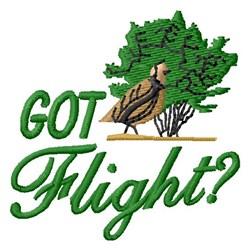 Got Flight? embroidery design