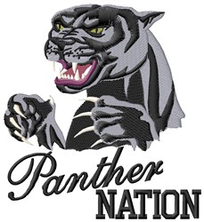 Panther Nation embroidery design