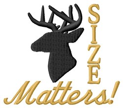 Size Matters embroidery design