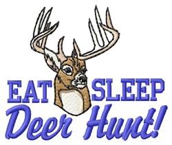 Deer Hunt embroidery design