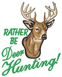 Deer Hunting embroidery design