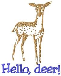 Hello Deer embroidery design